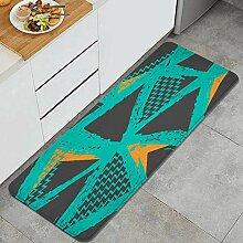 Waschbarer Küchenteppich,geometrische Elemente
