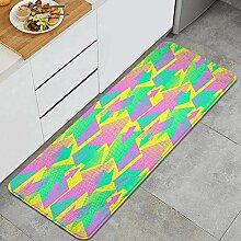 Waschbarer Küchenteppich,geometrische Trendige