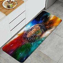 Waschbarer Küchenteppich,Geometrischer Planet