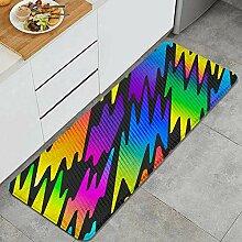 Waschbarer Küchenteppich,geometrisches Muster