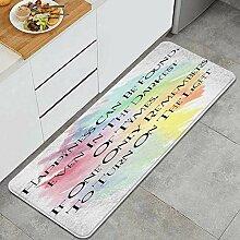Waschbarer Küchenteppich,Glück kann gefunden