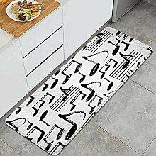 Waschbarer Küchenteppich,handgezeichnete