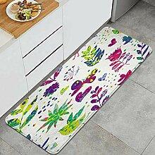Waschbarer Küchenteppich,Helles nahtloses