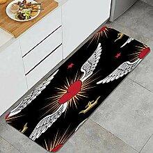 Waschbarer Küchenteppich,Herzen und