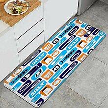 Waschbarer Küchenteppich,Hintergrund über Essen