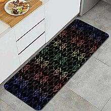 Waschbarer Küchenteppich,Hologramm Abstrakter