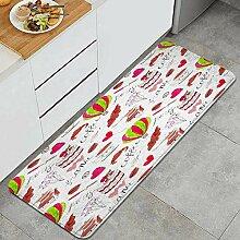 Waschbarer Küchenteppich,Illustration