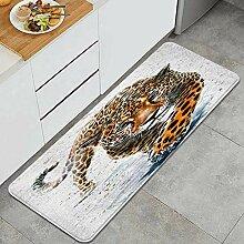 Waschbarer Küchenteppich,Jaguar,Rutschfester