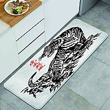 Waschbarer Küchenteppich,Japanischer