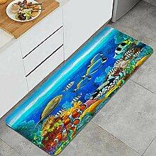 Waschbarer Küchenteppich,Meeresboden