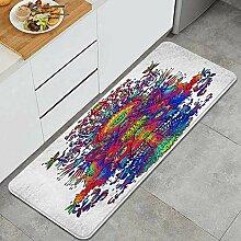 Waschbarer Küchenteppich,Mikrofaser,
