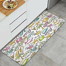 Waschbarer Küchenteppich,Nahtloser Hintergrund