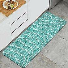 Waschbarer Küchenteppich,nahtloses Muster der