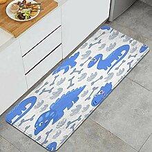 Waschbarer Küchenteppich,Nahtloses Muster des