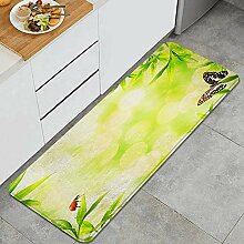 Waschbarer Küchenteppich,Naturgrüne