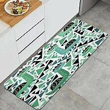 Waschbarer Küchenteppich,Netter Dino und