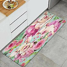 Waschbarer Küchenteppich,Nettes Schweine- und