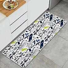 Waschbarer Küchenteppich,New York Skater
