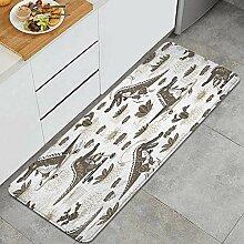 Waschbarer Küchenteppich,Niedliche Krokodil