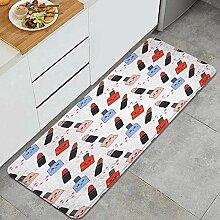 Waschbarer Küchenteppich,Niedliche Nahtlose
