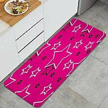 Waschbarer Küchenteppich,Niedliche Sterne