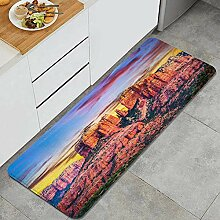Waschbarer Küchenteppich,Red Rock State von