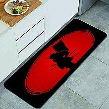 Waschbarer Küchenteppich,Samurai stehend