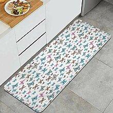 Waschbarer Küchenteppich,Schmetterlinge Nettes