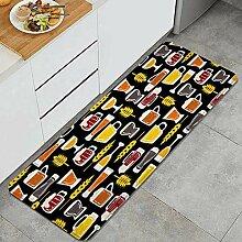 Waschbarer Küchenteppich,Tassen Bier auf