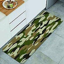 Waschbarer Küchenteppich,Trendiges Tarnmuster der