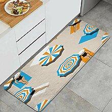 Waschbarer Küchenteppich,Vogelperspektive der