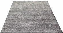 Waschbarer Shaggy Hochfloor Teppich mit Vliesrücken Delight weiß 060x115