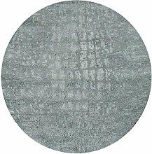 waschbarer Teppich für Bad Flur und Küche mit Kelim Kilim Oberfläche sehr pflegeleicht mit rutschfestem Latexrücken hochwertig Rund (Rund 120cm x 120cm)