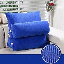 Waschbares Kissen, Triangle Bedside Kissen Büro Taille Back Pad Nackenkissen auf dem Bett Kissen Sofa Kissen Kissen , Kern enthalten ( farbe : 11 , größe : 45*45*22 CM )