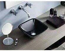 Waschbecken auf Waschtischplatte bathco Bayern schwarz
