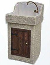 Waschbecken aus Beton, Spülbecken, Fontana,