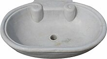 Waschbecken aus Marmor weiß L62x PR46X H18cm