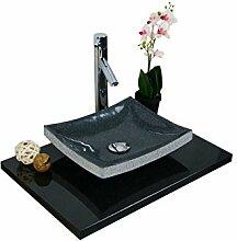 Waschbecken aus Naturstein, Granit, Model Dublin,