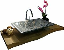 Waschbecken aus Naturstein, Granit, Model Havanna,