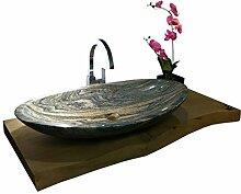 Waschbecken aus Naturstein, Granit, Model Monaco