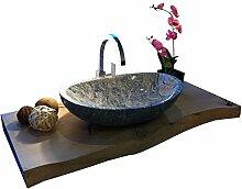 Waschbecken aus Naturstein, Granit, Model Monaco,