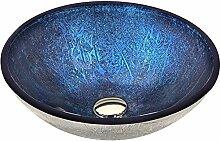 Waschbecken aus Sekuritglas–Blau–Arc