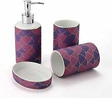Waschbecken Badezimmerzubehör-Sets, 4-teiliges