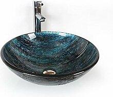 Waschbecken, Dunkel blau Badezimmer Waschbecken
