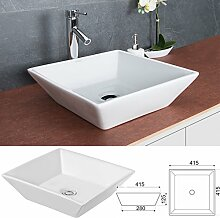 Waschbecken ECKIG Handwaschbecken Aufsatzwaschbecken Waschschale Waschtisch Waschplatz KR154