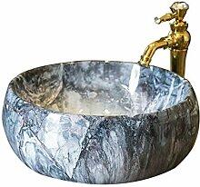 Waschbecken- Haushalts-Marmorwaschbecken-Oval