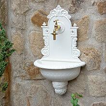 Waschbecken mit Gartenschlauchanschluss