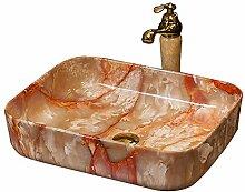 Waschbecken mit Marmor-Imita