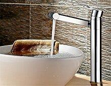 Waschbecken mit warmen und kalten Einloch Kupfer rotation Mixer desktop Waschbecken Mischbatterie, Hubhöhe) des Mischpults