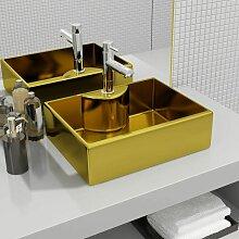 Waschbecken mit Wasserhahnloch 48 x 37 x 13,5 cm